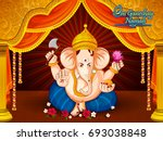 lord ganpati in vector for... | Shutterstock .eps vector #693038848
