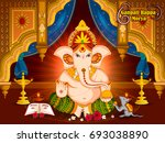 lord ganpati in vector for... | Shutterstock .eps vector #693038890