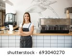 coffee business owner concept   ... | Shutterstock . vector #693040270