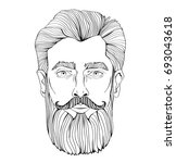 the face of a bearded man....   Shutterstock .eps vector #693043618