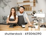 coffee business concept  ... | Shutterstock . vector #693046390