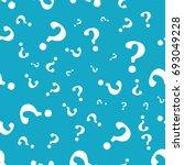 question mark seamless pattern .... | Shutterstock .eps vector #693049228