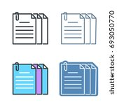 the document pile with... | Shutterstock .eps vector #693050770
