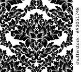 damask seamless pattern... | Shutterstock . vector #693051748