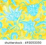 pretty vintage feedsack pattern ...   Shutterstock . vector #693053350