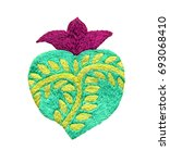 sacred heart embroidery ...   Shutterstock . vector #693068410