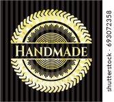 handmade gold shiny emblem | Shutterstock .eps vector #693072358