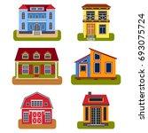 historical city modern world... | Shutterstock .eps vector #693075724