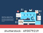 digital analytics  big data... | Shutterstock .eps vector #693079219