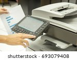 multifunction printer in office | Shutterstock . vector #693079408