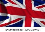 great britain flag hi res...   Shutterstock . vector #69308941