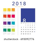 Colorful Calendar Layout For...