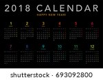 colorful calendar layout for... | Shutterstock .eps vector #693092800