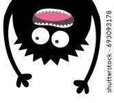 screaming monster head... | Shutterstock .eps vector #693093178