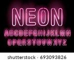 neon typography lettering... | Shutterstock .eps vector #693093826