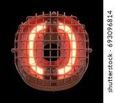 alarm light font. 3d rendering. | Shutterstock . vector #693096814
