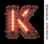 alarm light font. 3d rendering. | Shutterstock . vector #693096838