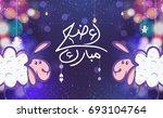 eid al adha. eid ul adha... | Shutterstock .eps vector #693104764