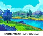 landscape  vector illustration | Shutterstock .eps vector #693109363