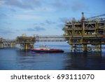 landscape of offshore platform... | Shutterstock . vector #693111070