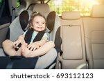 beautyful smiling baby girl... | Shutterstock . vector #693112123