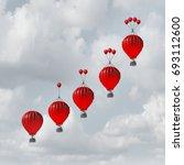 competitive advantage increase... | Shutterstock . vector #693112600