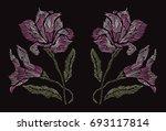 elegant hand drawn decoration...   Shutterstock . vector #693117814