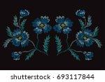 elegant hand drawn decoration...   Shutterstock . vector #693117844
