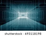 abstract futuristic dark... | Shutterstock . vector #693118198