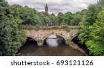 towers of university of glasgow ... | Shutterstock . vector #693121126