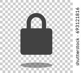 lock icon vector isolated | Shutterstock .eps vector #693121816