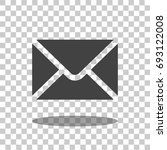 mail icon vector isolated | Shutterstock .eps vector #693122008