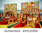 xochimilco is one of the 16...   Shutterstock . vector #693125500