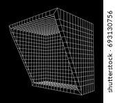 wireframe mesh slice box.... | Shutterstock .eps vector #693130756