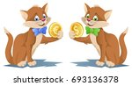 one cat holding dollar symbol...   Shutterstock .eps vector #693136378
