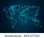 abstract mash line and point... | Shutterstock .eps vector #693137254