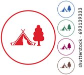 stylized icon of tourist tent.... | Shutterstock .eps vector #693139333