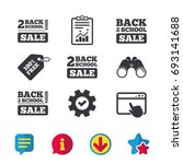back to school sale icons....