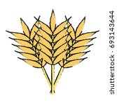 wheat vector illustration | Shutterstock .eps vector #693143644