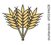 wheat vector illustration | Shutterstock .eps vector #693144628