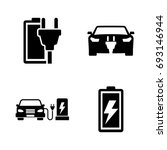 electrocar. simple related... | Shutterstock .eps vector #693146944