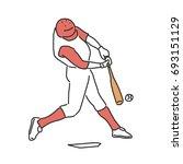 baseball player and softball...   Shutterstock .eps vector #693151129