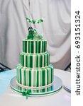 beautiful big three leveled... | Shutterstock . vector #693151324