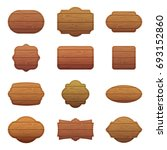 wooden sign. wood board with...   Shutterstock . vector #693152860
