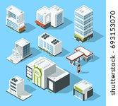 isometric illustrations of... | Shutterstock . vector #693153070