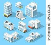 isometric industrial buildings  ... | Shutterstock . vector #693153106