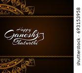 happy ganesh chaturthi... | Shutterstock .eps vector #693153958