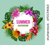 tropical graphics. exotic... | Shutterstock . vector #693154063