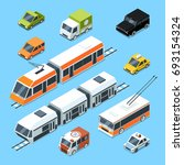 isometric municipal transport... | Shutterstock . vector #693154324