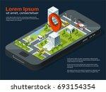 3d city concept picture....   Shutterstock . vector #693154354